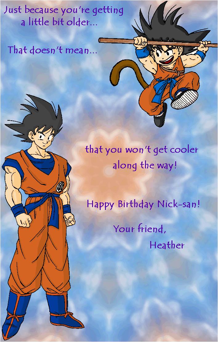 Dragon Ball Z Birthday Card Db and Dbz Birthday Card by Ladytsuki On Deviantart