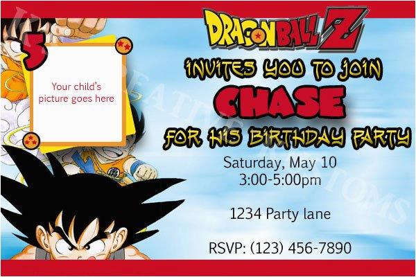Invitacin Dragn Ball Dragon Z T Birthday