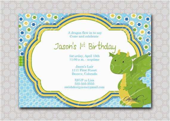 dragon birthday invitation digital printable birthday
