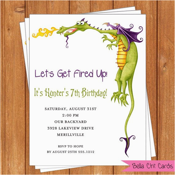 Dragon Birthday Invitations Printable Dragon Invitation Kids Birthday Printable Editable