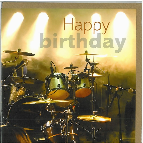 Drummer Birthday Card Drums Birthday Card