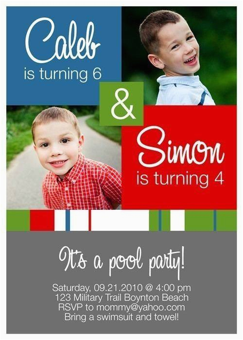 double party birthday invitations