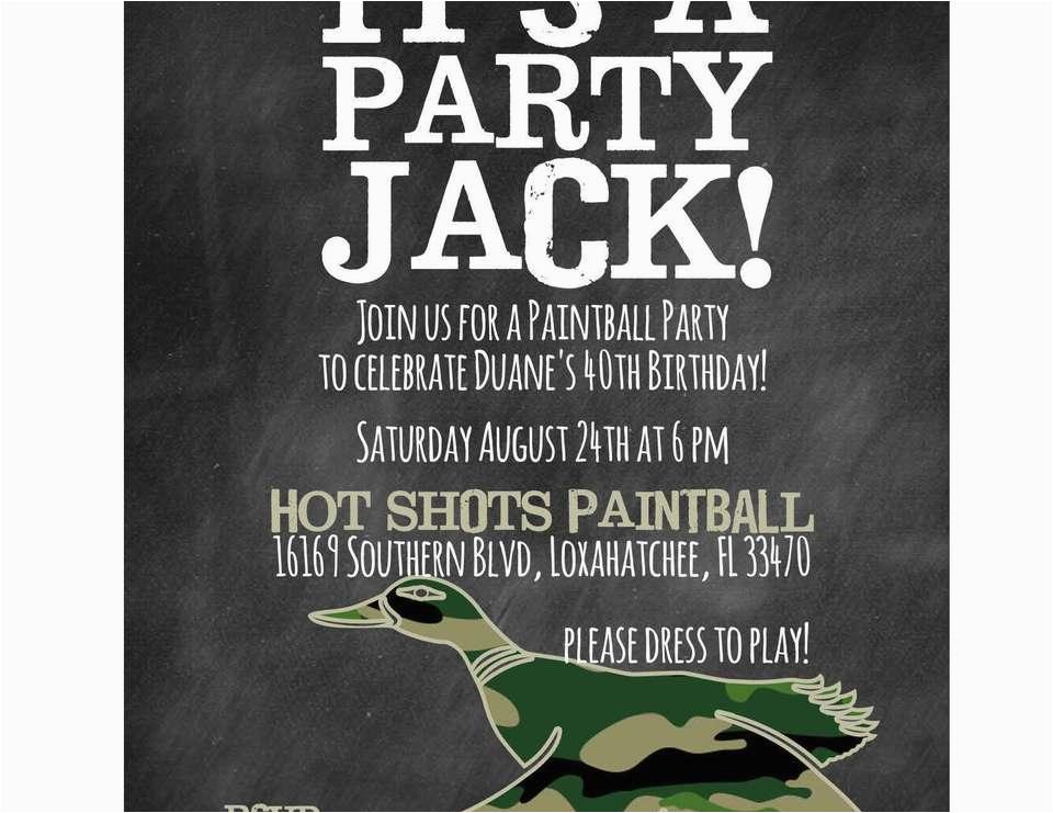 Duck Dynasty Birthday Invitations Birthdaybuzz