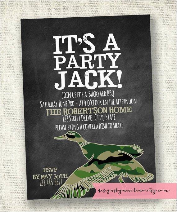 duck dynasty invitation party invitations ideas