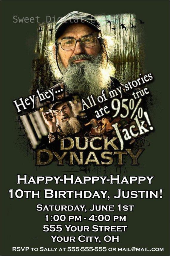 Duck Dynasty Birthday Invitations Duck Dynasty Invitation Party Invitations Ideas