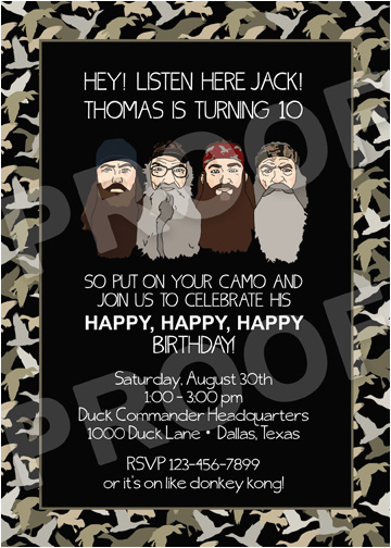 paper perfection duck dynasty invitation