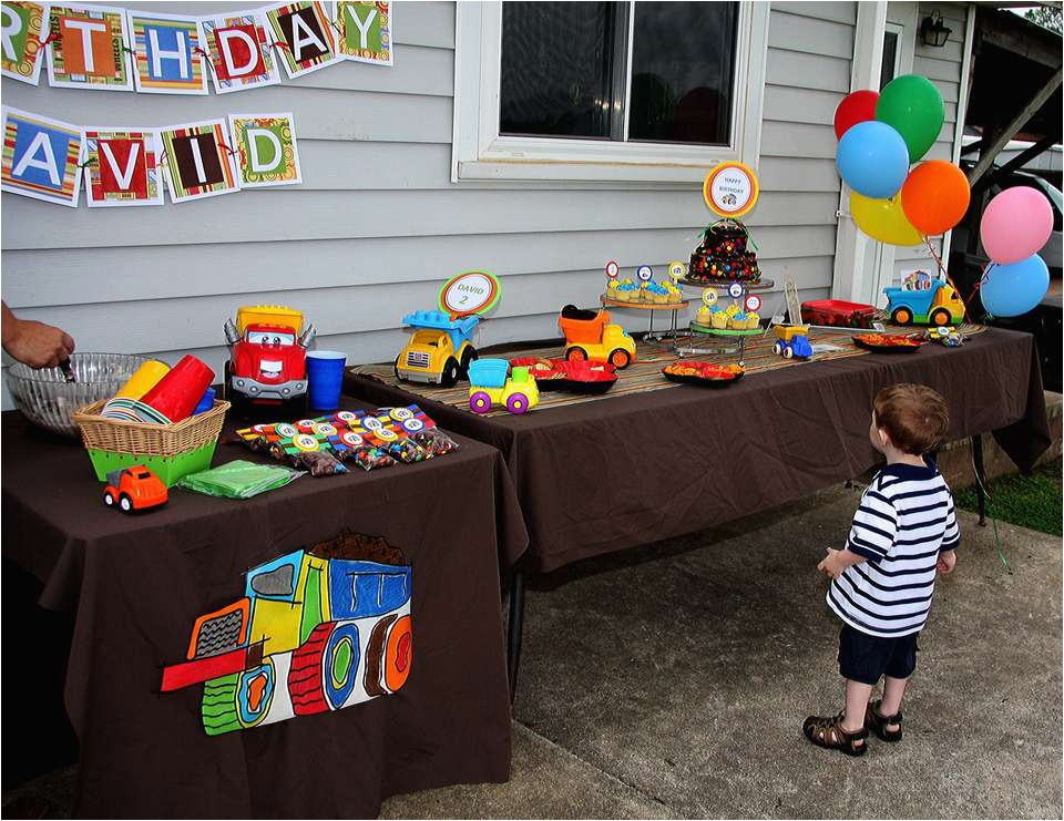 Dump Truck Birthday Party Decorations Dump Truck Birthday Quot David 39 S Truck Birthday Quot Catch My