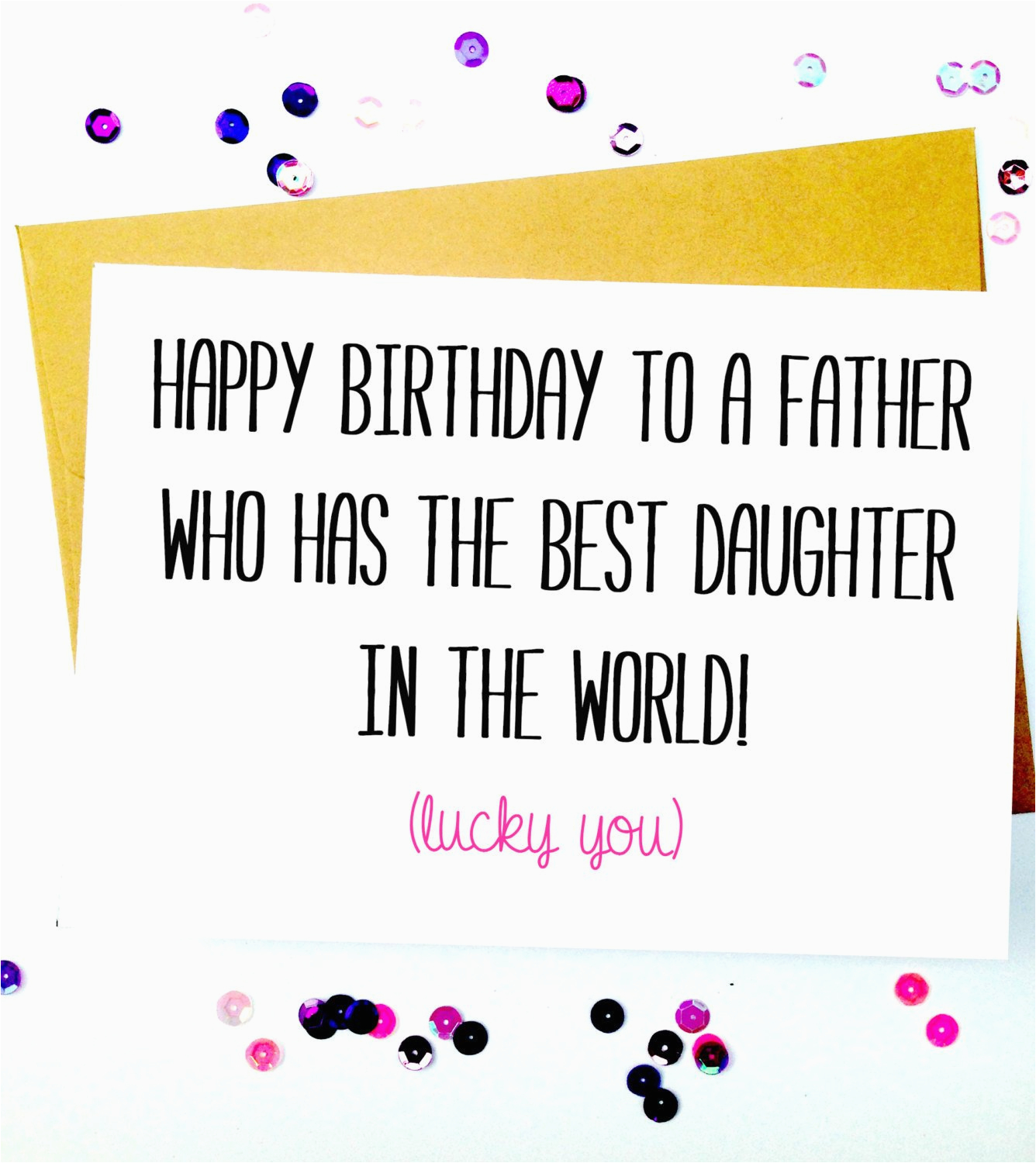 E Birthday Cards For Dad Funny Father Daughter Card By Lailamedesigns