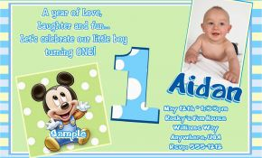 E Invitation For Baby Birthday Free Printable Mickey Mouse 1st Invitations