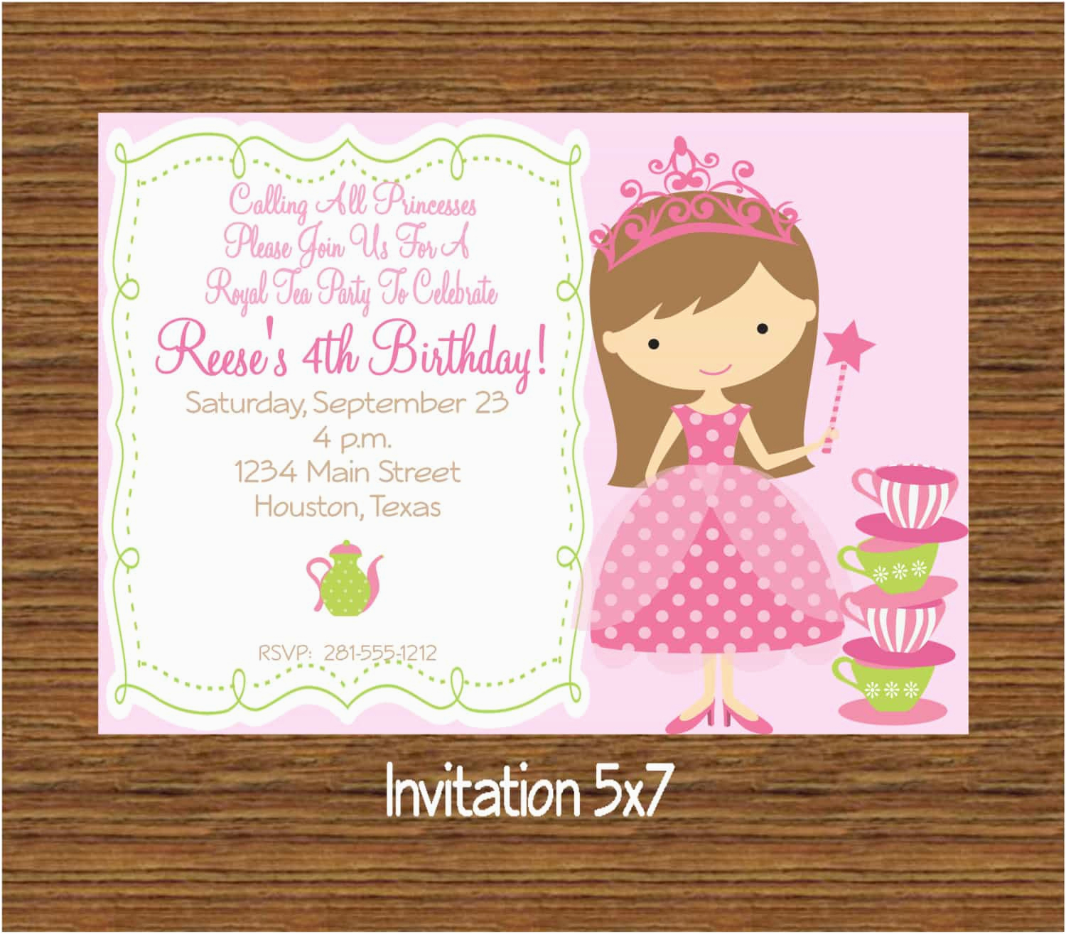 E Invitation For Birthday Party Create Own Tea Invitations Free Egreeting