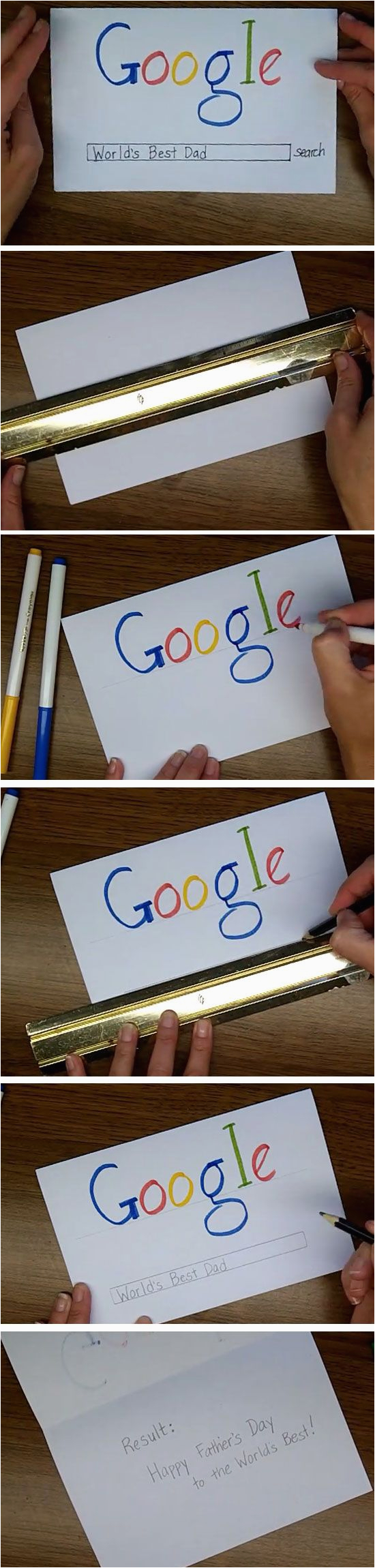 google search easy homemade fathers day cards to make