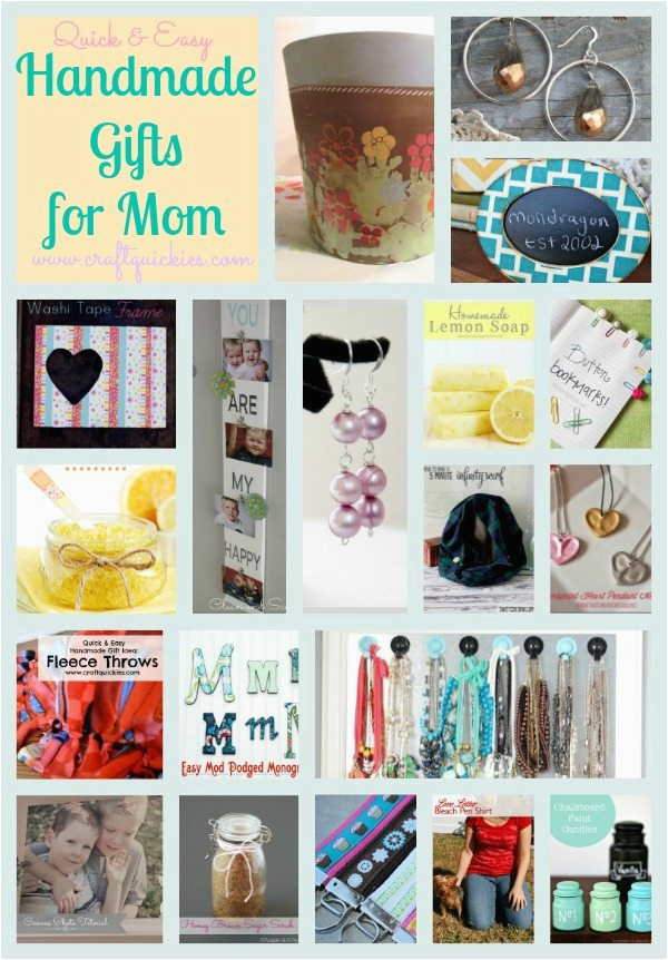 Handmade Gifts 19 Quick Easy Mom Will Love