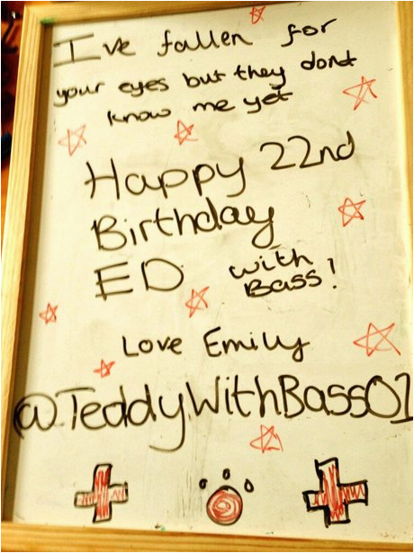 ed sheeran 39 s 22nd birthday card capital