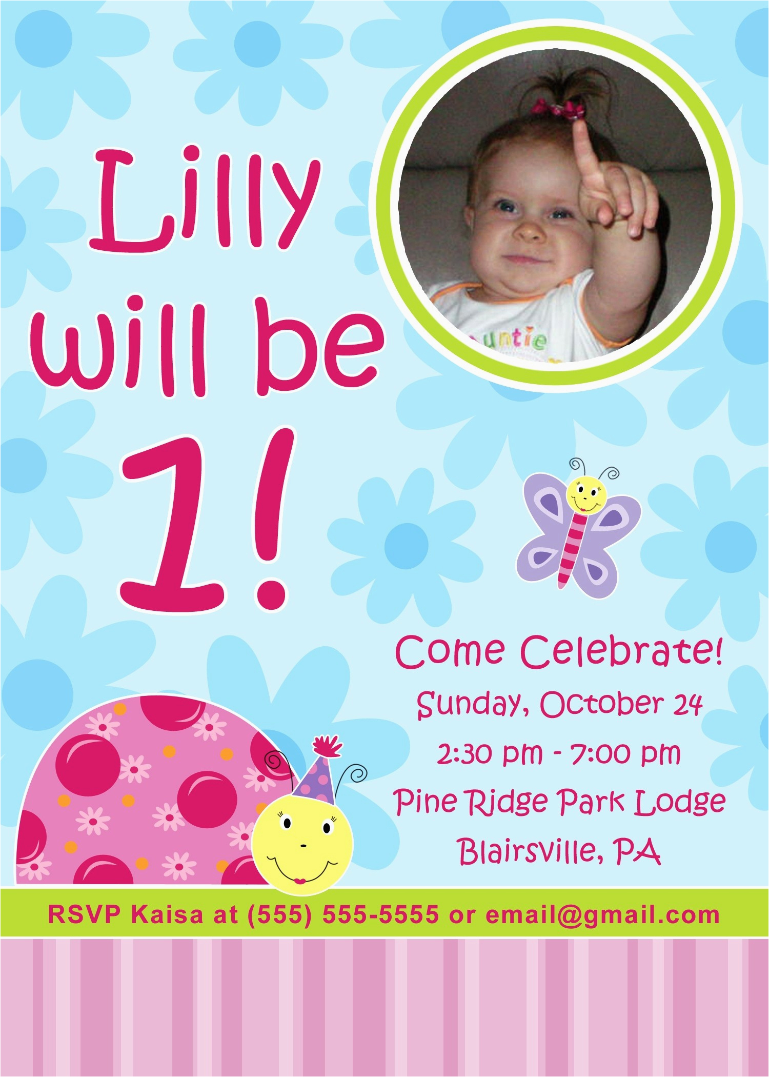 editable 1st birthday invitation card free download first