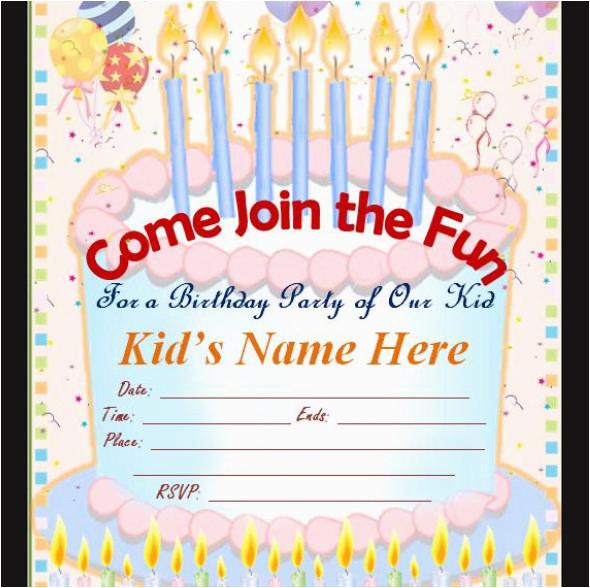 50 printable birthday invitation templates sample templates