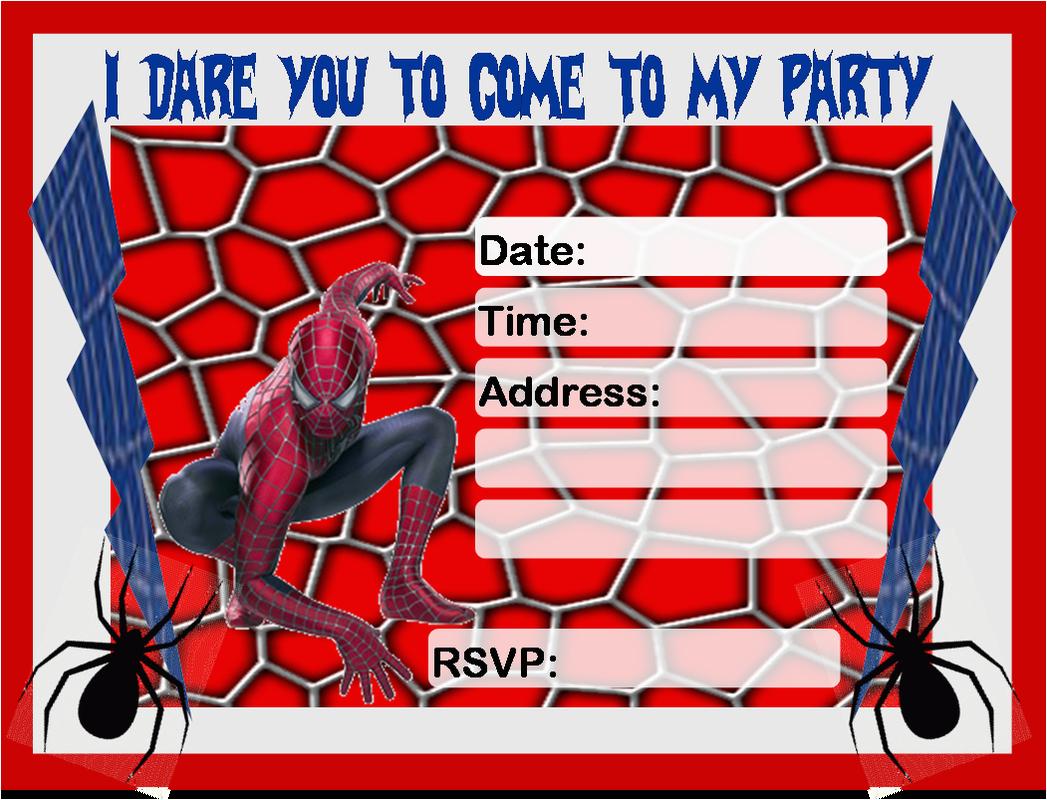 Editable Spiderman Birthday Invitation Free Invitations To Print