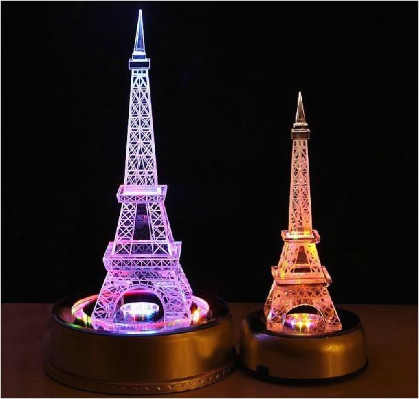 Eiffel tower Birthday Decorations Free Shipping Crystal Eiffel tower Wedding Table
