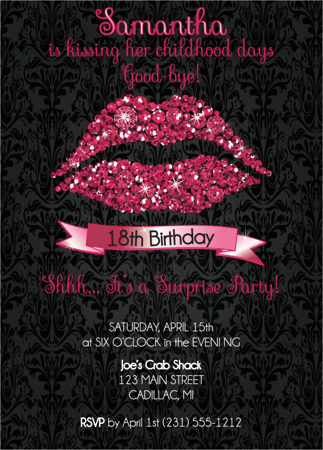 Eighteenth Birthday Invitations 18th Invitation Party Hot