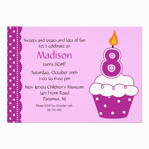 Eighth Birthday Invitation Wording 8th Party Invitations Drevio