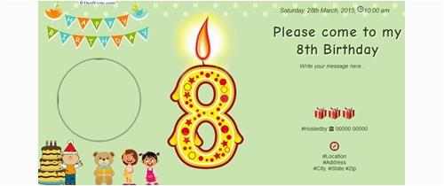 Eighth Birthday Invitation Wording Free 8th Party