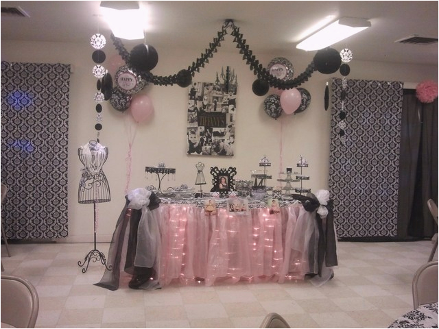 Elegant 60th Birthday Decorations Table Ideas Photograph 6