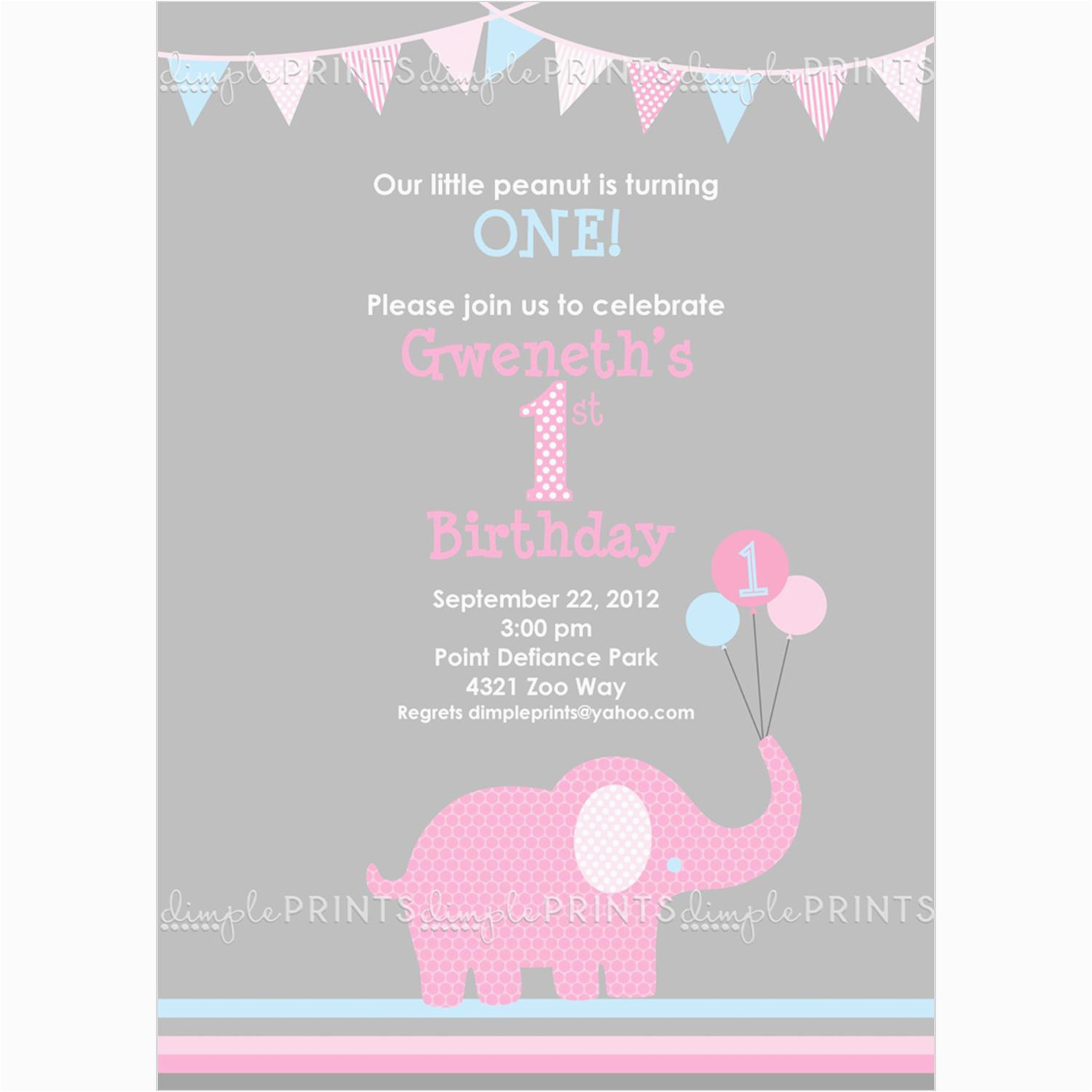 elephant birthday invitations for the invitations design of your inspiration birthday invitation templates party 3