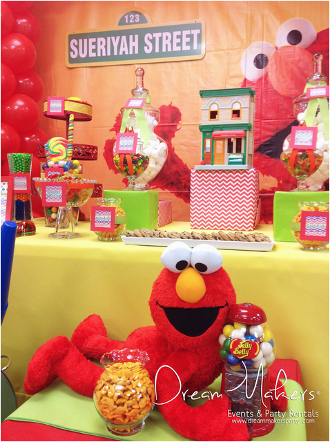 Elmo 1st Birthday Decorations Sesame Street Party Ideas Photo 6 Of 20