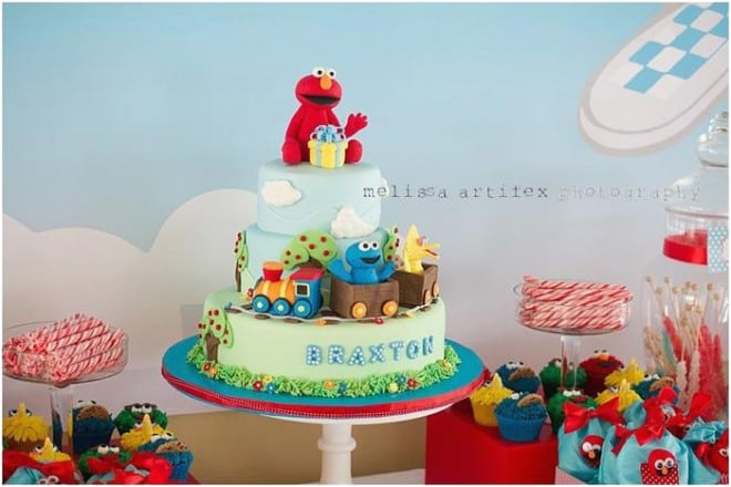 Elmo 1st Birthday Party Decorations Themed Spaceships And Laser Beams