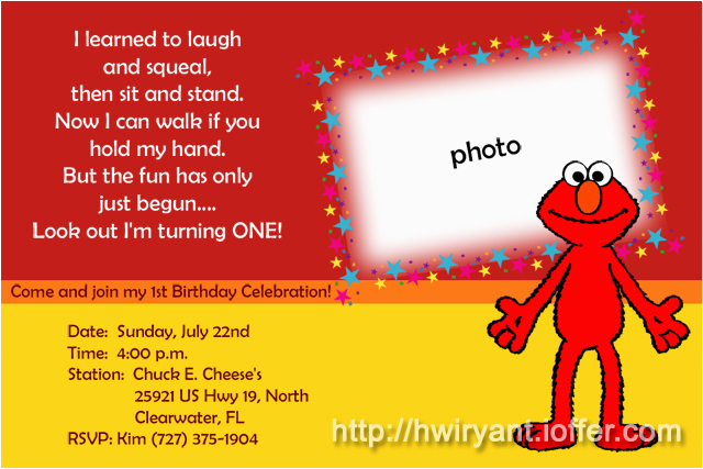 Elmo 1st Birthday Party Invitations 9 Best Images Of First Printable
