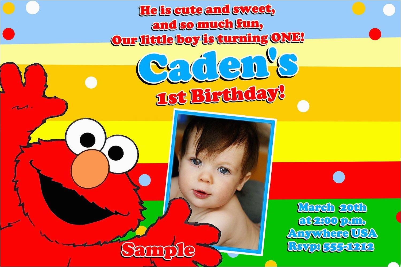 Elmo 1st Birthday Party Invitations Free Printable