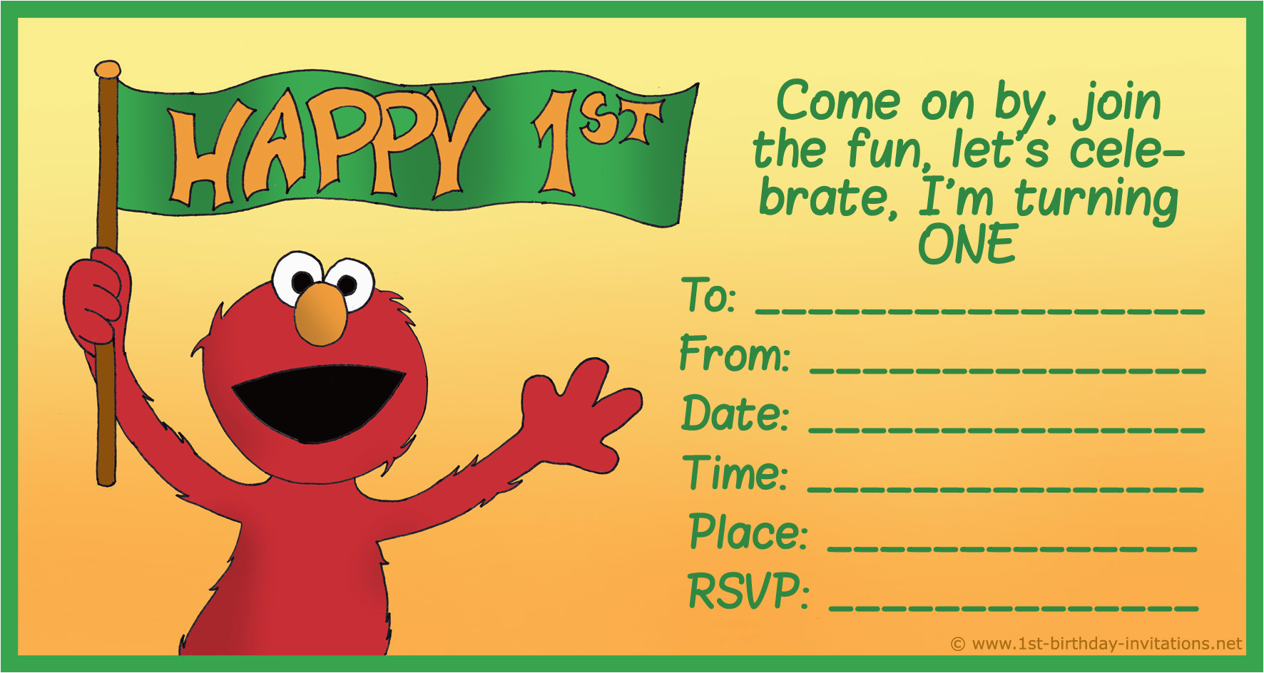 Elmo 1st Birthday Party Invitations How To Create And Cards