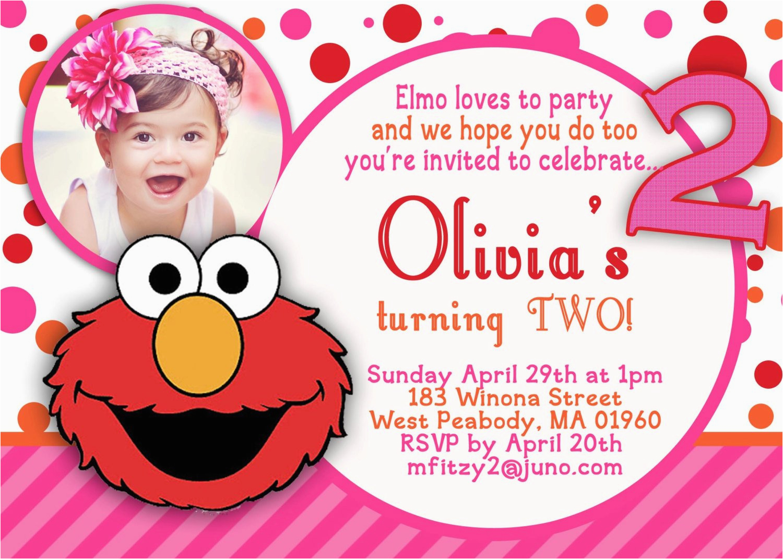 Elmo 2nd Birthday Invitations Hannah On Pinterest Sesame Street Party