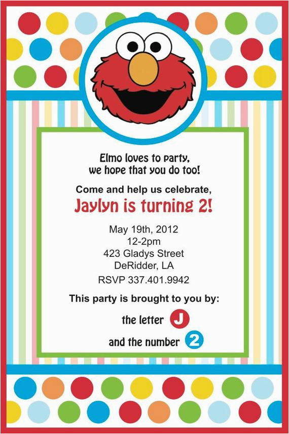 Elmo 2nd Birthday Invitations