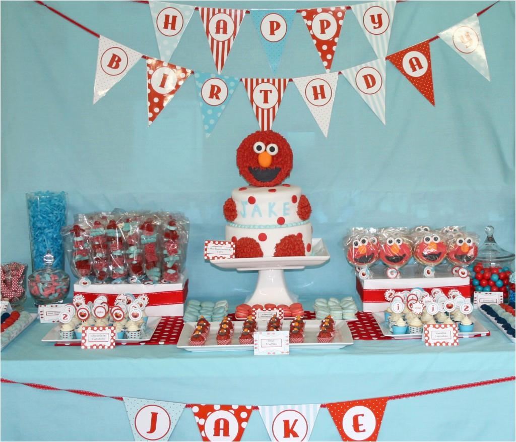 elmo baby shower decorations