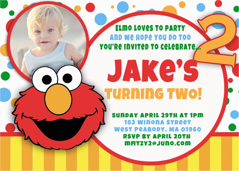 elmo 1st birthday invitations