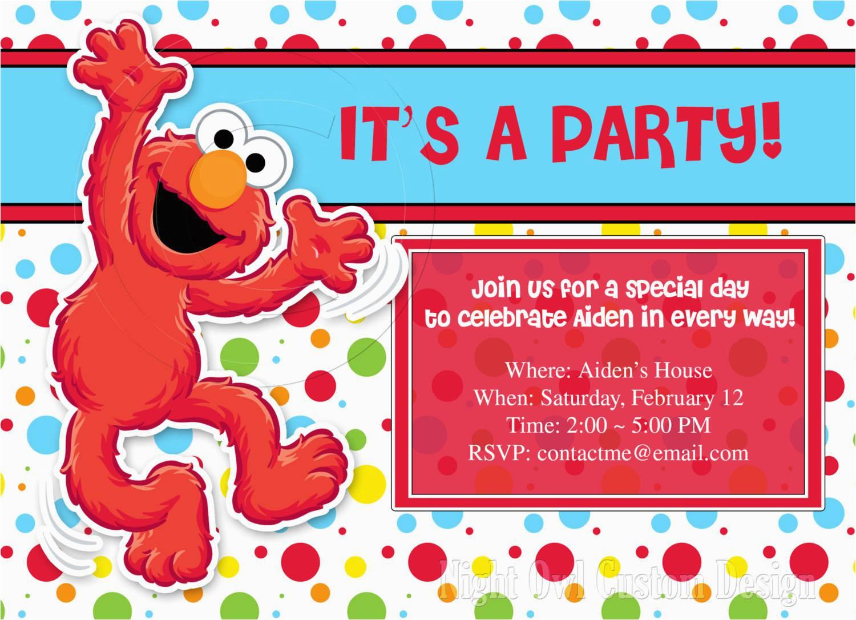 Elmo Birthday Invitations Online Elmo Party Invitations Party