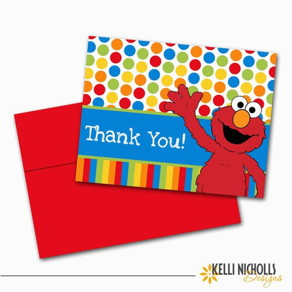 elmo children 39 s birthday party thank you by