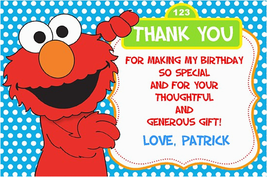 elmo thank you cards personalized