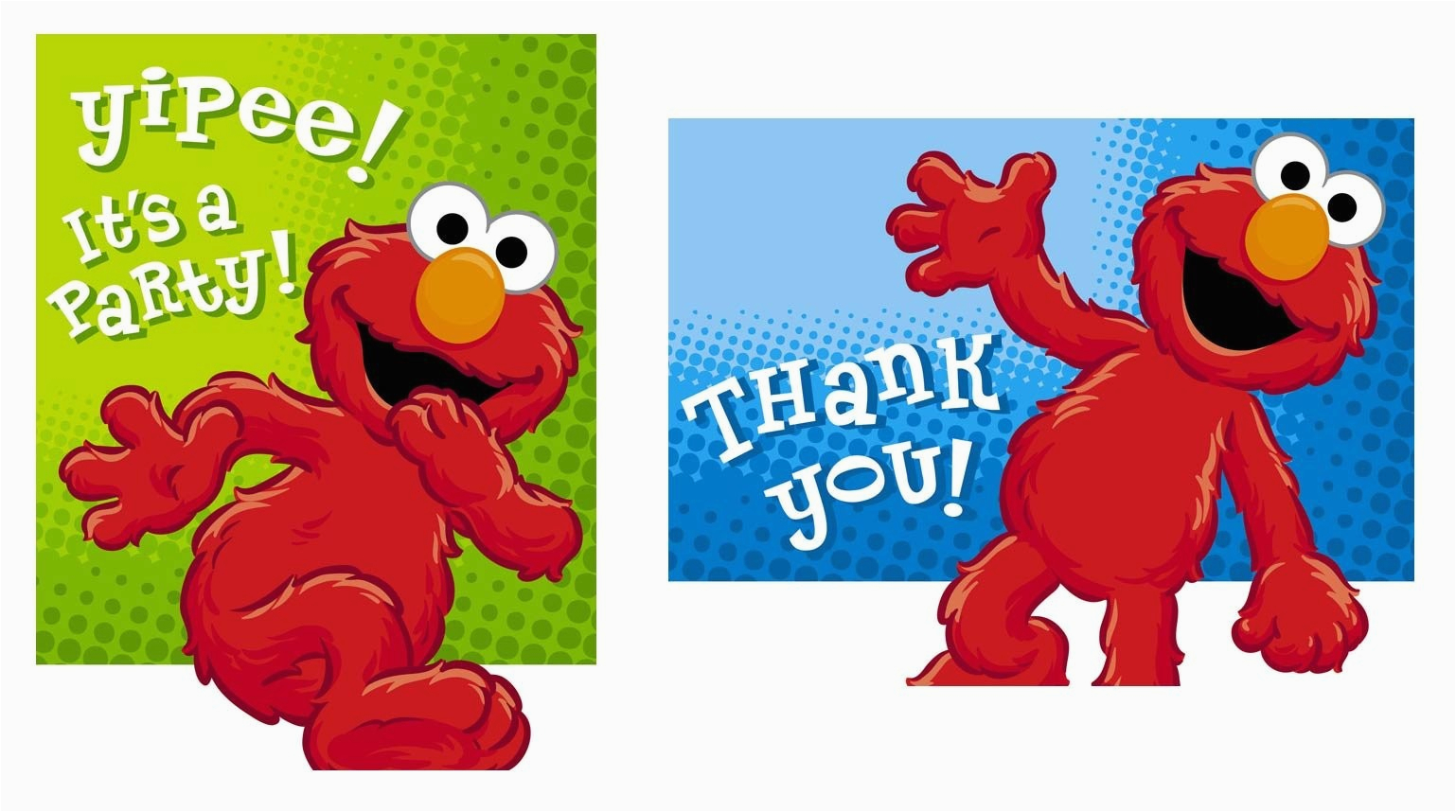 hooray for elmo invite thank you card combo partymart com
