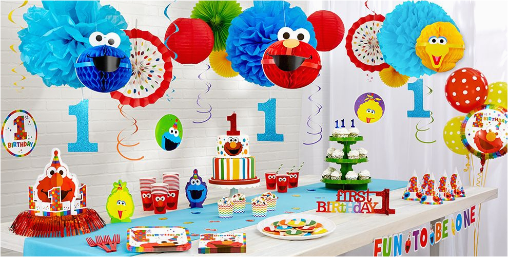 Elmo Decorations For 1st Birthday Party Supplies City