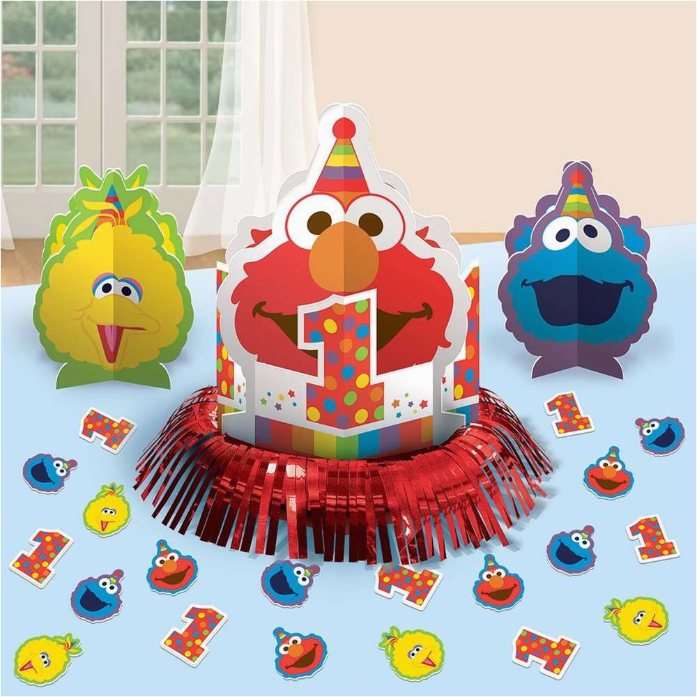 2947 elmo 1st birthday table decorating kit