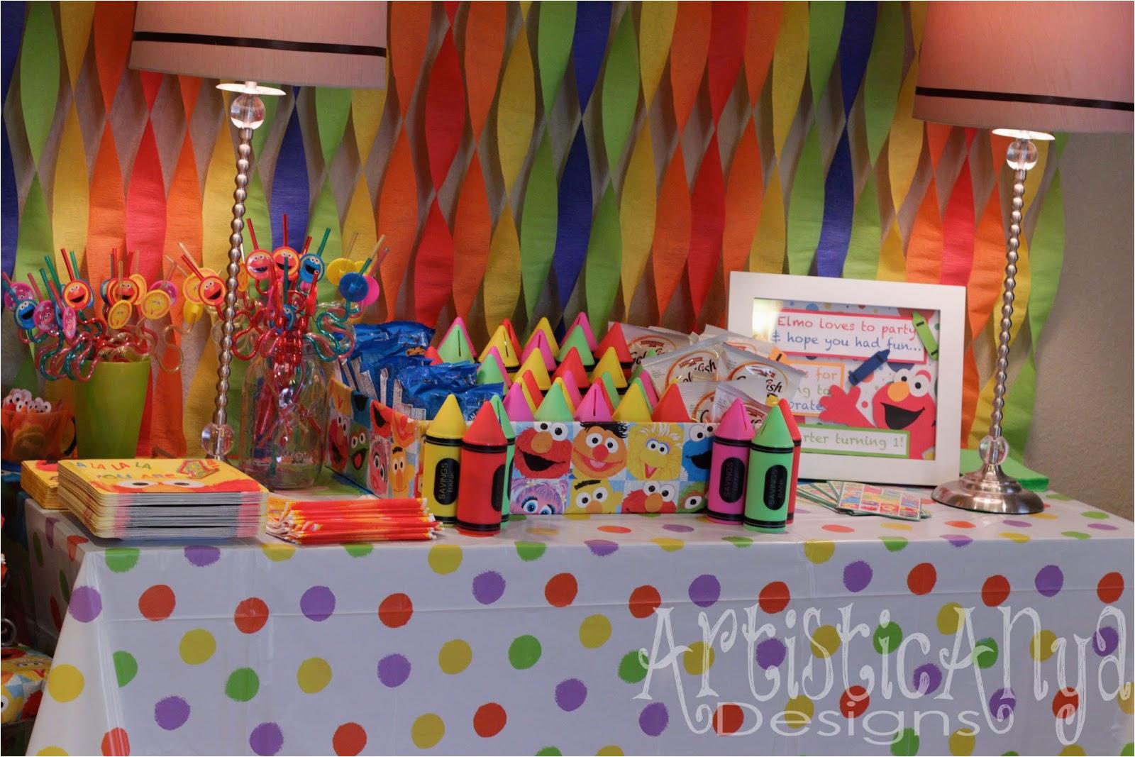 collectionedwn elmo 1st birthday decorations