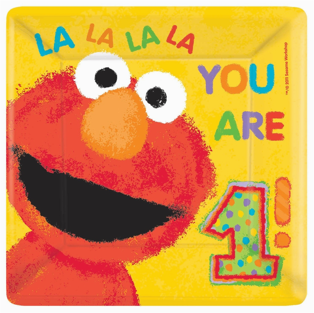 elmo 1st birthday dinner plates 18ct p386