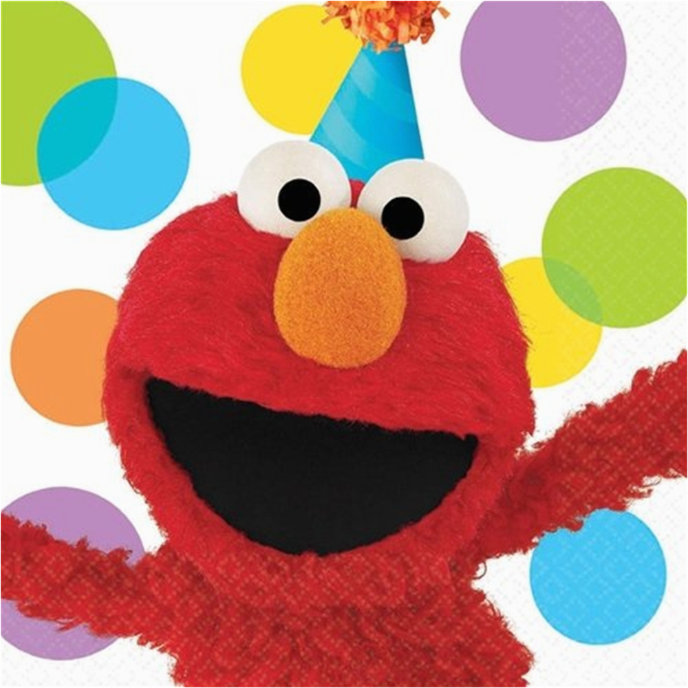 elmo 1st birthday lunch napkins 16ct p388