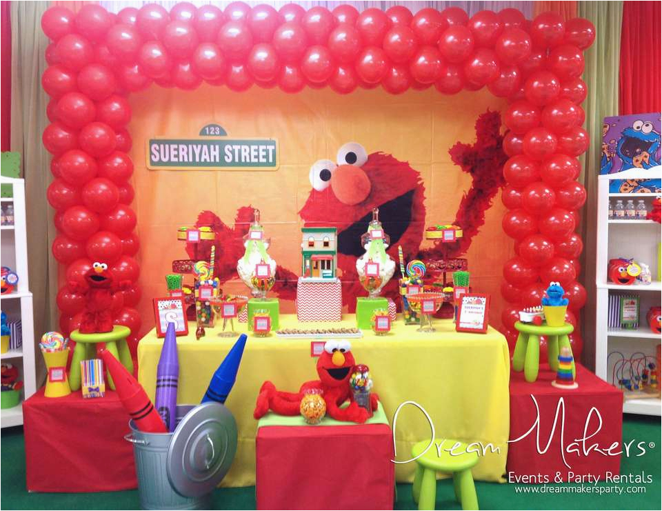 Elmo First Birthday Decorations Elmo Sesame Street Birthday Quot Elmo 1st Birthday Party