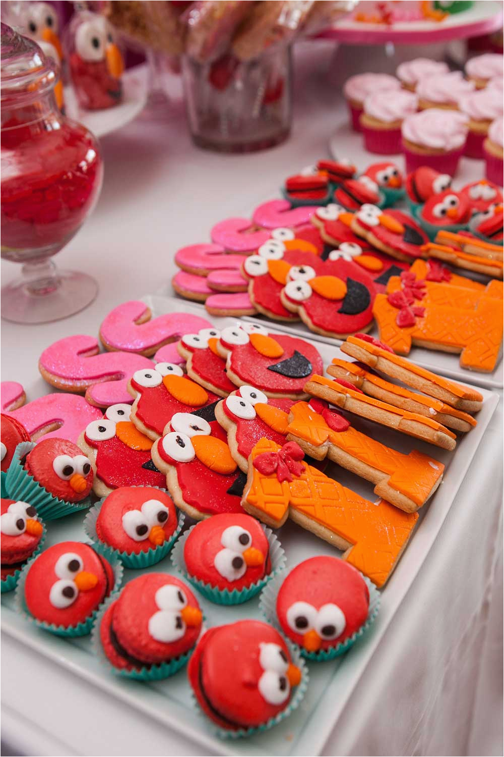 elmo themed first birthday party at the b loft in atlanta georgia