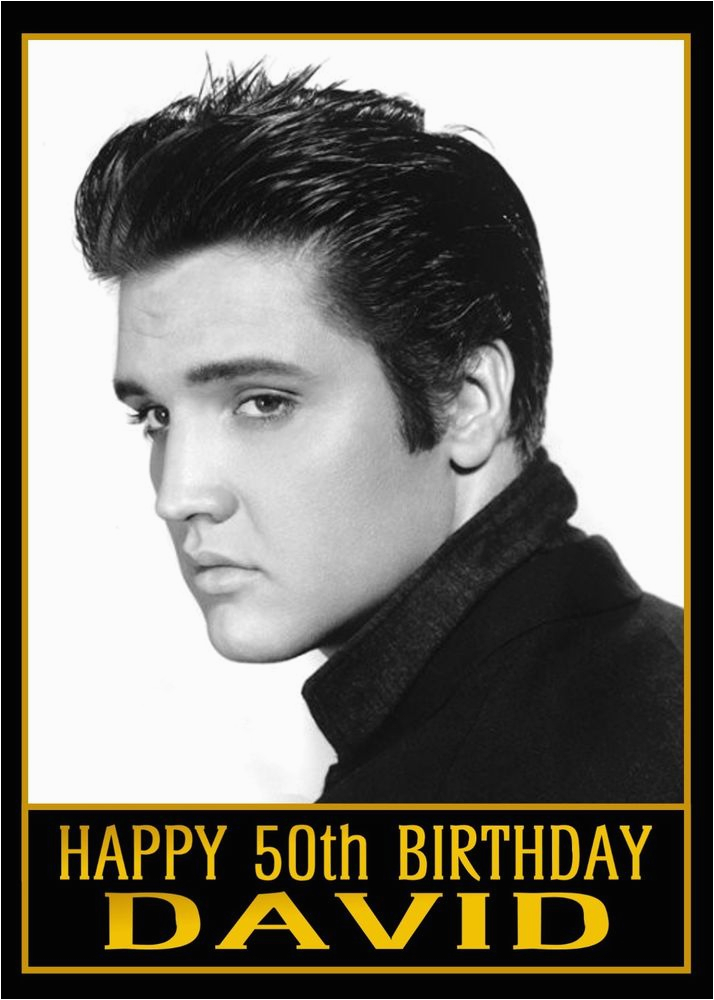 Elvis Presley Personalised Birthday Card Any Age Name Or