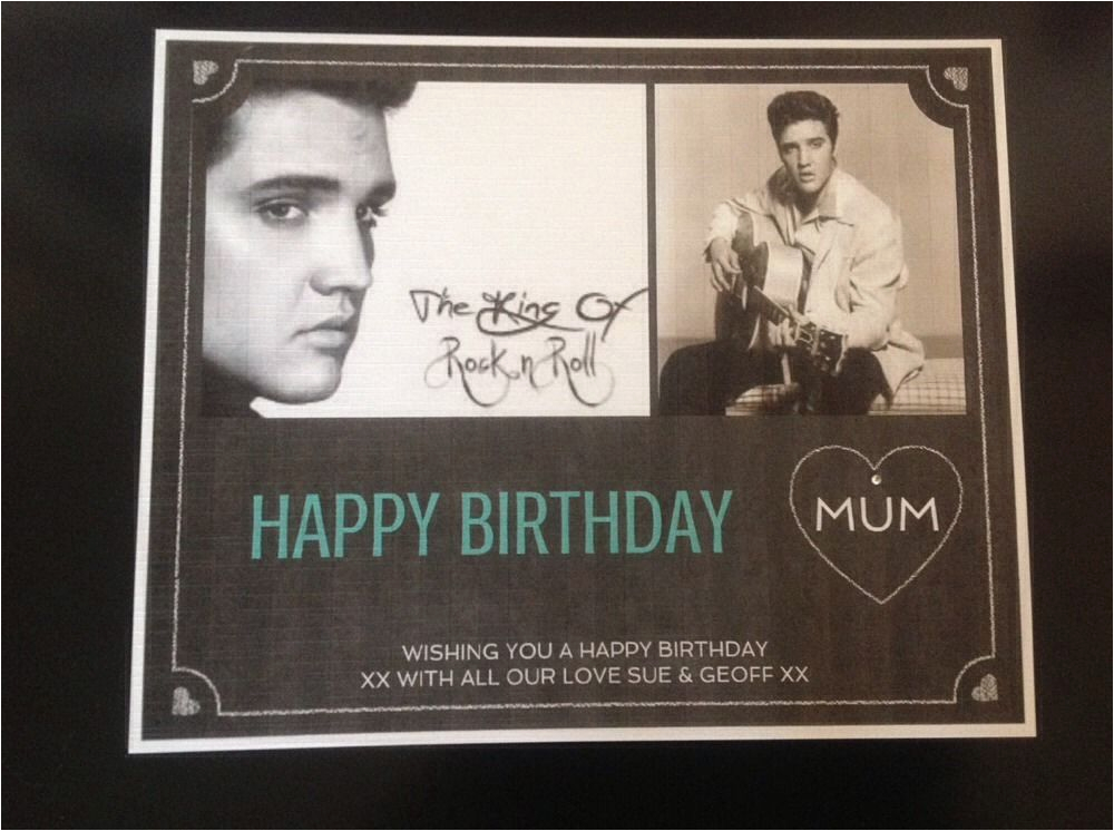 elvis presley personalised birthday keepsake certificate