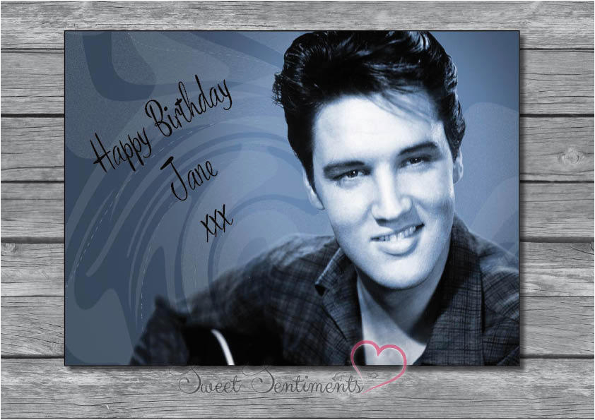 personalised elvis presley birthday fathers day mothers