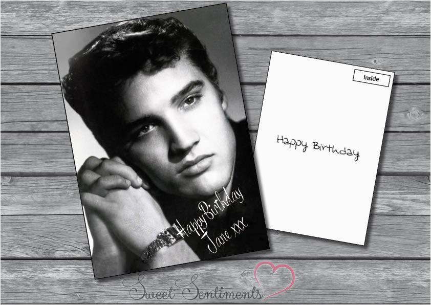 personalised elvis presley birthday xmas or any greetings